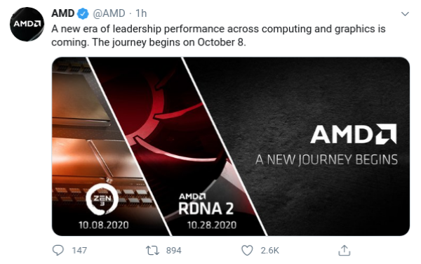 Amd Ryzen Zen 3 And Radeon Rx 6000 Series Announcements